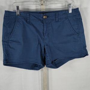 American Eagle blue stretch Shortie shorts 8 6153